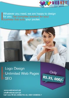 WebNet Provides the best Web Development and Custom Logo Services all Over the World..!! For Contact us : 021-34982742 www.webnet.com.pk info@webnet.com.pk
