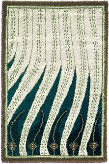 Finnish rug By Akseli Gallen-Kallela / Liekkiryijy  rug stepping all over someone