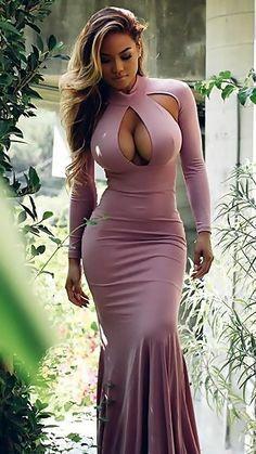 Tight Dresses, Sexy Dresses, Mädchen In Bikinis, Femmes Les Plus Sexy, Beautiful Black Women, Beautiful Ladies, Sexy Outfits, Sexy Women, Ebony Girls