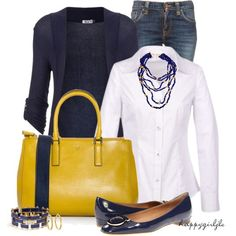 A fashion look from February 2013 featuring long-sleeve shirt, navy blue cardigan and blue jeans. Browse and shop related looks. Casual Outfits, Cute Outfits, Fashion Outfits, Womens Fashion, Casual Wear, Basic Wardrobe Pieces, Jeans Azul, Wal G, Polyvore Fashion