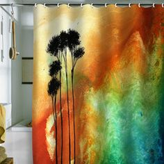 This is pretty too! Madart Inc. Desert Mirage Shower Curtain