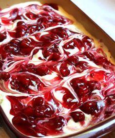 Cherry Cheesecake Surprise Layered Dessert