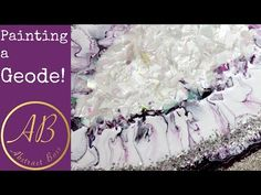 Painting a Geode with ACRYLIC paints! - YouTube