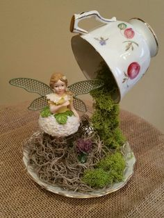 Fairy tea cup garden. More