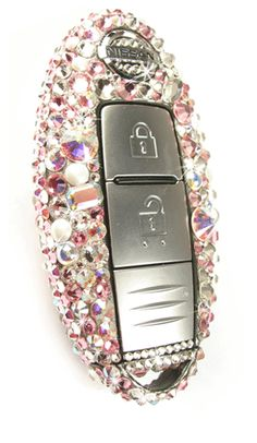 28. Car Key in Diamonds and Pearls Crystal and Light Rose Theme.