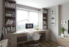 Developing a home office is actually a mix between purposeful decor and trendy interior design ideas. The home office must be a location that is created for working and entertaining customers in addit Home Office Space, Home Office Design, Home Office Decor, House Design, Home Decor, Office Style, Office Ideas, Grey Office, Office Furniture