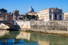 view of the #Tiber in #Rome, #Italy royalty-free stock photo #microstockita
