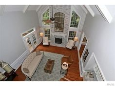 Love the vaulted ceilings of the fireplace | 13546 River Forest Place, Saint Louis, MO