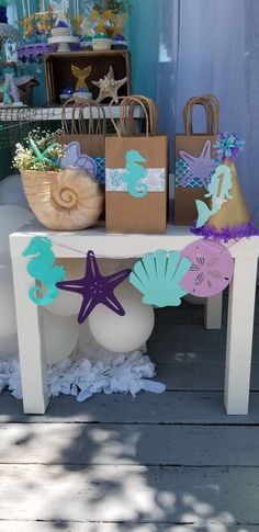 - Mermaid Birthday Party Ideas Toys, Kids & Baby PartyIdeas The Effective Pictures W - Mermaid Theme Birthday, Little Mermaid Birthday, Little Mermaid Parties, Baby Birthday, Birthday Cake, Mermaid Party Decorations, Birthday Party Decorations, Party Themes, Birthday Parties