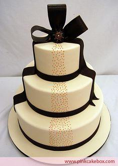 Halloween Gothic Themed Ivory Wedding Cake