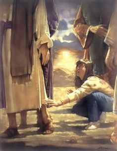 She symbolizes our questioning generation. She reaches right past the fancy garments to the One who has the real power - Jesus. But we can only experience it for ourselves when we exercise our faith and reach out for Him. Jean 3 16, Prophetic Art, Biblical Art, Jesus Pictures, Bible Art, Lds Art, Christian Art, Christian Paintings, God Jesus