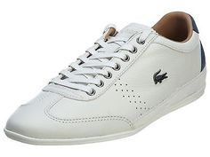 Lacoste Misano 34 Mens 7-29SRM2410-098 Off White Leather Shoes Sneakers Size 10