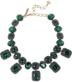 Oscar de la Renta Gold-plated resin necklace $1,250.00 thestylecure.com