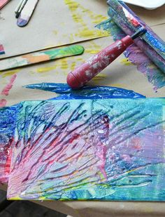How to do printmaking with preschoolers