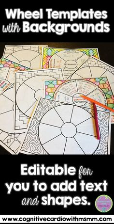Templates to make your own doodle notes for your classroom doodle use these editable wheel templates with backgrounds to create wheels for any content area fandeluxe Images