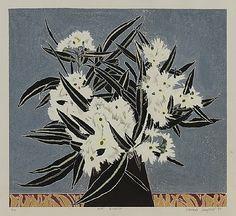 """ Cressida Campbell Gum Blossom, 1987 coloured woodblock print http://www.annettelarkin.com/content/art-detail.asp?idImage=28581 """