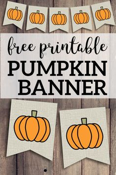 Decorate for Fall Halloween and Thanksgiving. DIY pumpkin banner with a burlap rustic farmhouse look. Thanksgiving Banner, Fall Banner, Diy Banner, Thanksgiving Crafts, Fall Crafts, Halloween Garland, Theme Halloween, Fall Halloween, Vintage Halloween