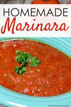Easy Italian Recipes:  Marinara Sauce    marinara recipe   Italian recipes   sauce recipes   easy sauce   homemade Italian