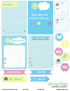 Free Sunny Days Printables from Vintage Glam Studio