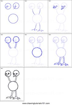 ** done ** . How to Draw Doduo from Pokemon GO Printable Drawing Sheet by DrawingTutorials101.com