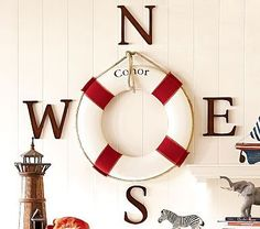 Very cute idea! Would go great in my little boys boat room, also from Pottery Barn!