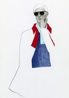 Colour blocking richard kilroy on behance illustration in 20 Men Fashion Show, Fashion Art, Mens Fashion, Fashion Sketchbook, Fashion Sketches, Fashion Illustration Collage, Fashion Illustrations, Sneakers Fashion Outfits, Menswear