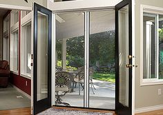 french doors with screen