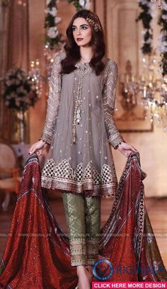 Maria B BD02 Mbroidered Eid Luxury Collection 2017 1