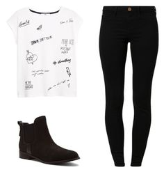 """""""Untitled #215"""" by eilatan-acosta ❤ liked on Polyvore featuring River Island, MANGO and Steve Madden"""