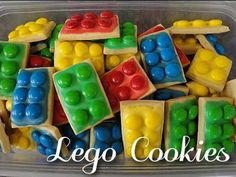 Lego Cookies These aren't really for the shower, I just thought they looked really cool :) and wanted to share.