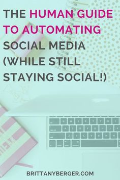 the human guide to automating social media (and staying social) - yes, it's possible to save time on social media and still build real relationships there! learn how to balance social media productivity and automation with staying social and authentic to your brand