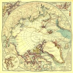 National Geographic North Pole Regions Map 1907