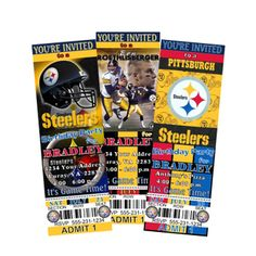 25 best steelers 50th birthday party ideas images on pinterest 50 pittsburg steelers birthday party tickets invitations filmwisefo
