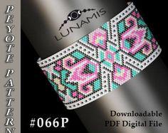 Peyote bracelet pattern, odd count, peyote pattern, stitch pattern, pdf file, pdf pattern, #066P