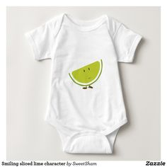 Smiling sliced lime character