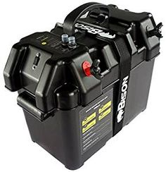 BISON BATTERY BOX CARRIER WITH USB CHARGER, LED METER, BREAKER & 12V SOCKET: Amazon.co.uk: Sports & Outdoors
