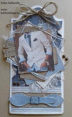Vintage Type, Masculine Cards, Diy Cards, Mini, Scrapbooking, Boards, Handmade, Gifts, Design
