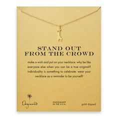 stand out from the crowd giraffe necklace, gold dipped by Dogeared (fellow B Corp!)