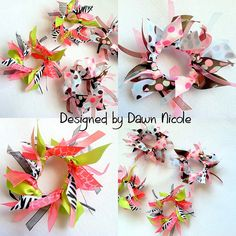 personalized ponytail holder hair tie ribbon streamers name or