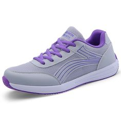 Breathable Mesh Lace Up Running Shoes , leather crossbody bag, big crossbody bags, vintage messenger bag running tattoo, half marathon gifts, runner gift ideas running #sport #giveaway #12daysofgiveaways, back to school, aesthetic wallpaper, y2k fashion Womens Fashion Sneakers, Womens Shoes Wedges, Sneakers Women, Fashion Women, Pump Shoes, Women's Shoes Sandals, Shoes Sneakers, Comfortable Ballet Flats, Buy Shoes Online