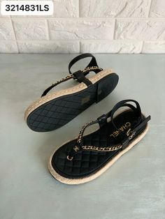 Flat Sandals, Flats, Chanel Brand, Chanel Shoes, Espadrilles, Woman, Summer, Fashion, Loafers & Slip Ons