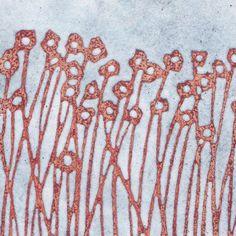 Enamel on copper tile - by artist Janine Partington