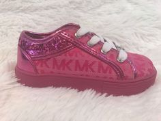 finest selection 1310e 2fecf NEW Toddler Girls Michael Kors MK Sneakers Shoes PINK Glitter Size 8 NWOB  Bin 3  MichaelKors  CasualShoes