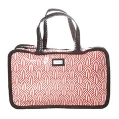 Premium Designer Toiletries Travel Bag, zippered bag. #femmepromo #promobags #promopinktotes #makeupcases #pinkbags