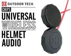 Chips - Universal Wireless Helmet Audio http://www.outdoortechnology.com/Shop/Chips/chips-wireless-helmet-audio.html