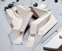 fabriciomora: Peter Eisenman Church Competition Roma 1996 / a tutor-suggested precent inspiration, focusing on accessibility in relationship with my initial ideas of domesticity, being able to feel at home, through a open, welcoming space Architecture Origami, Architecture Design, Concept Architecture, Amazing Architecture, Architecture Models, Hospital Architecture, Library Architecture, Architecture Sketchbook, Chinese Architecture