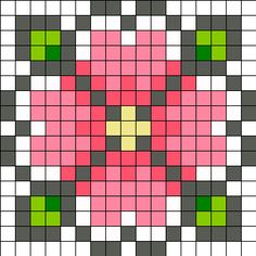 off loom beading stitches Easy Perler Bead Patterns, Perler Bead Designs, Perler Bead Art, Bead Loom Patterns, Beading Patterns, Kandi Patterns, Beading Ideas, Beading Supplies, Pixel Art Fleur