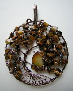 Tiger's Eye Tree of Life Wire Wrapped by RachaelsWireGarden
