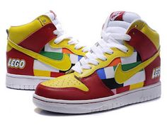 competitive price b4a14 23c0a rainbow nike dunks lego toy sneaker for men This is one multicolored nike  dunks high tops shoes,the print pattern is based on the kids .