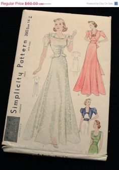 Black Friday Sale Simplicity 2665 1930s by EleanorMeriwether, $51.00